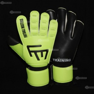 Rękawice bramkarskie FOOTBALL MASTERS Training Fluo Black Aqua 3,5mm RF